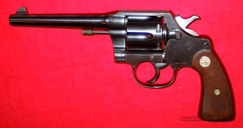 New Service Commercial .38 Spec.  Guns > Pistols > Colt Double Action Revolvers- Pre-1945
