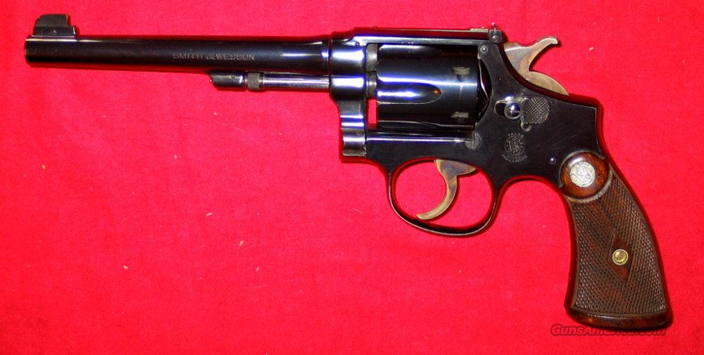 K-22 Outdoorsman Pre-War  Guns > Pistols > Smith & Wesson Revolvers > Pre-1945