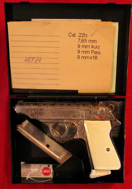 PP Silver Engraved .22LR  Guns > Pistols > Walther Pistols > Post WWII > PP Series