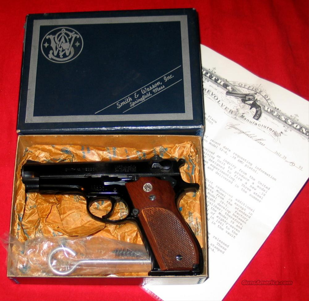 52-A .38 A.M.U.- NIB w/Jinks Letter  Guns > Pistols > Smith & Wesson Pistols - Autos > Alloy Frame
