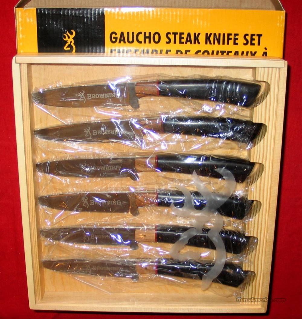 Browning Gaucho Steak Knife Set   Non-Guns > Knives/Swords > Knives > Fixed Blade > Imported