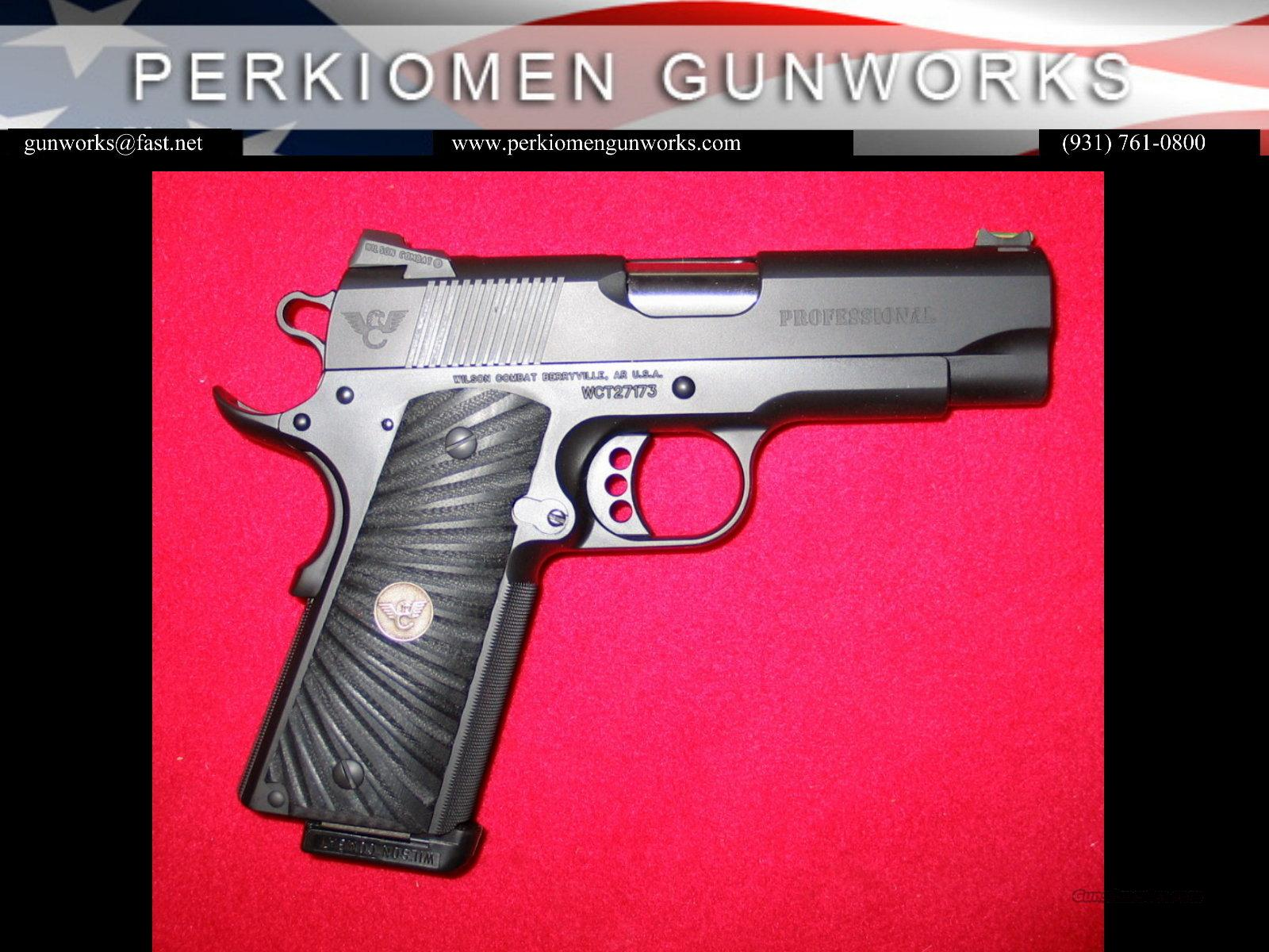 "Professional, .38 Super, 4"", w/Options – New in Box.  Guns > Pistols > Wilson Combat Pistols"