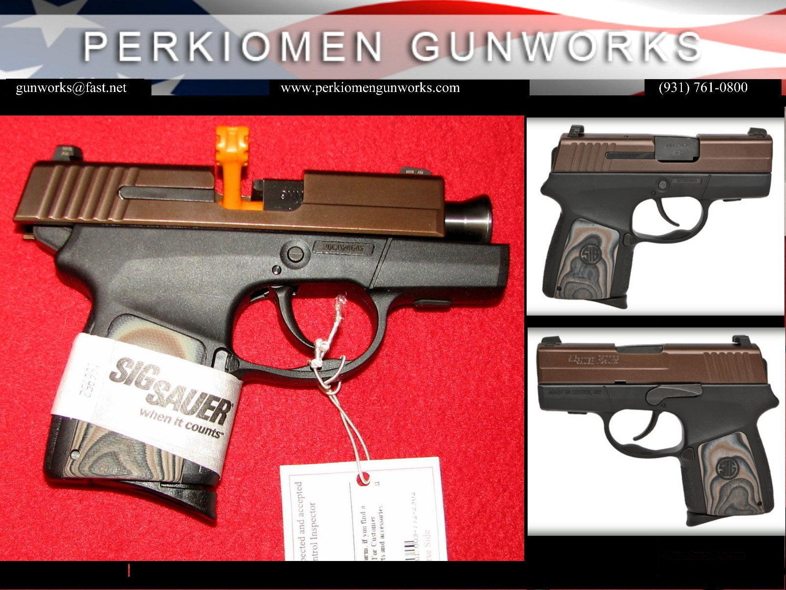 P290, 9MM, ORB (Oil Rubbed Bronze) Restrike, Enhanced - NIB  Guns > Pistols > Sig - Sauer/Sigarms Pistols > P290