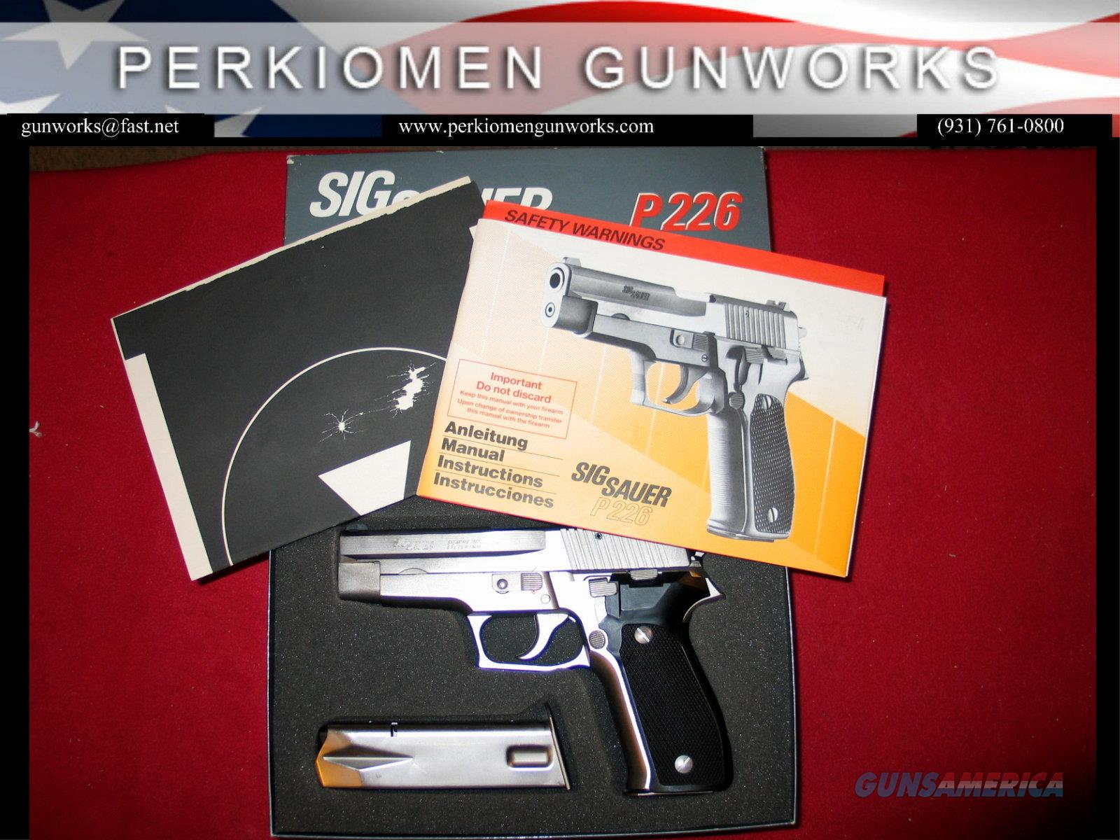 P226, 9mm, 4.4 inch, West German NICKEL Electroless finish with original box.  Guns > Pistols > Sig - Sauer/Sigarms Pistols > P226