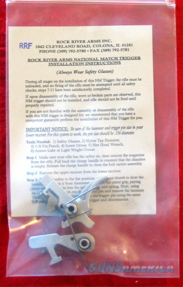Rock River National Match CHROME AR Trigger Kit  Non-Guns > Gun Parts > Rifle/Accuracy/Sniper