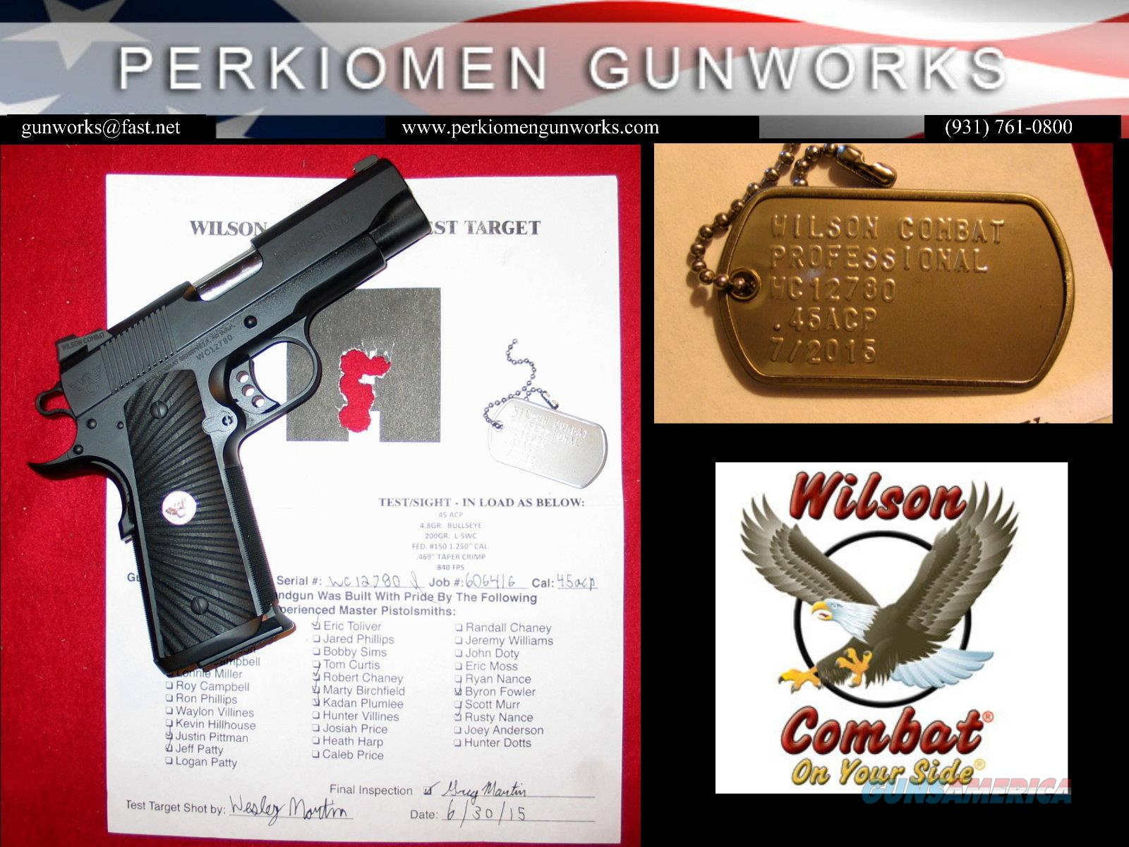 "Professional .45ACP, 4"" w/Extra Options - New  Guns > Pistols > Wilson Combat Pistols"
