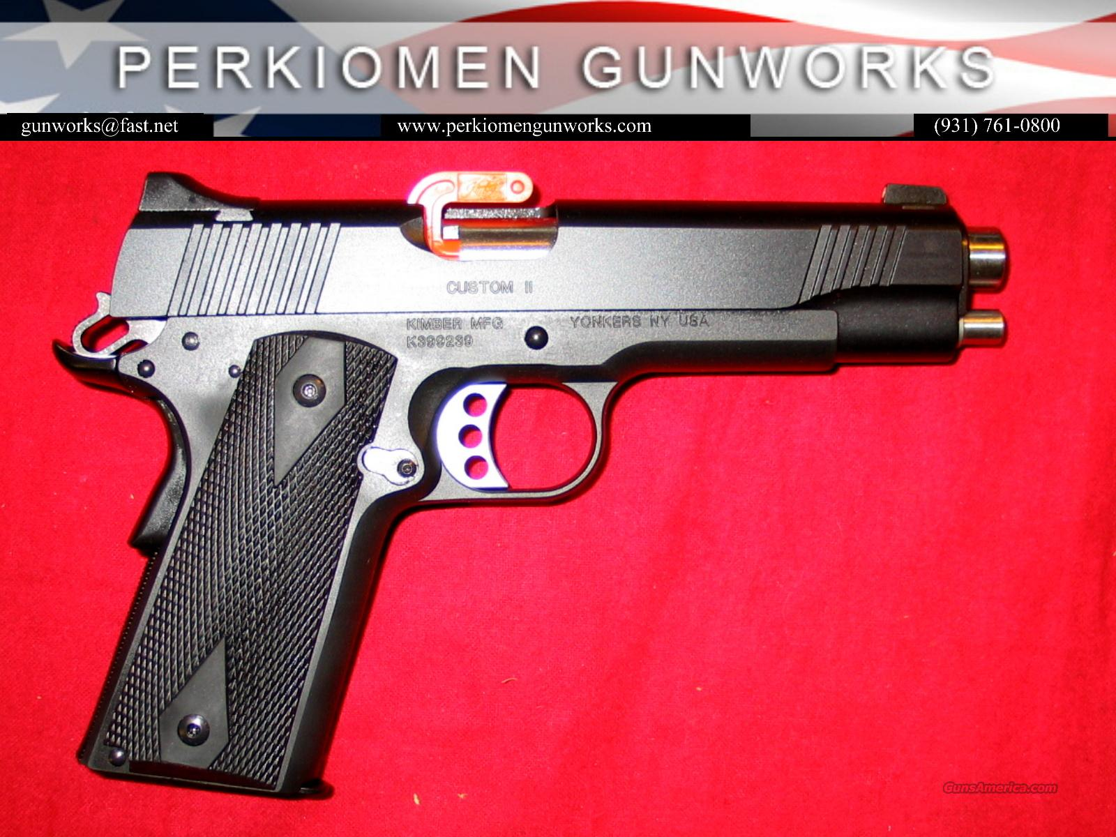 "Custom II w/Night Sights, 45acp, 5"", New in Box.  Guns > Pistols > Kimber of America Pistols"