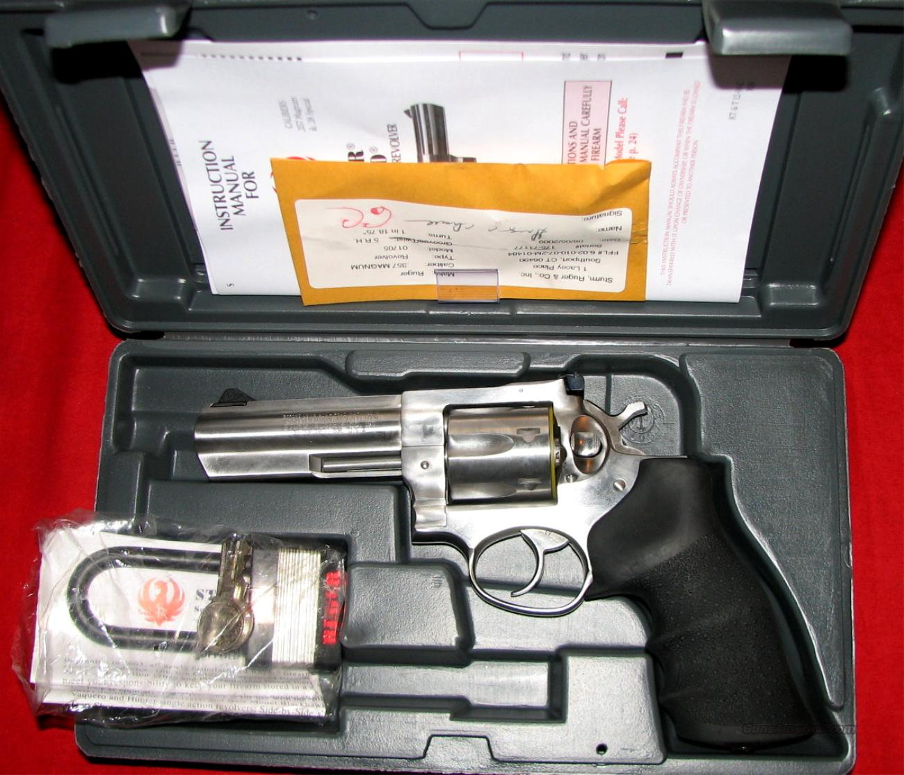 "GP100 SS 4"" HB - NIB  Guns > Pistols > Ruger Double Action Revolver > Security Six Type"