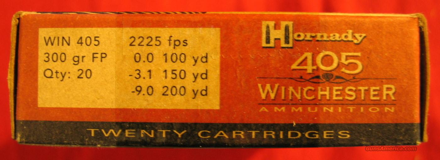 Hornady .405 Win, 300gr Flat Point  Non-Guns > Ammunition