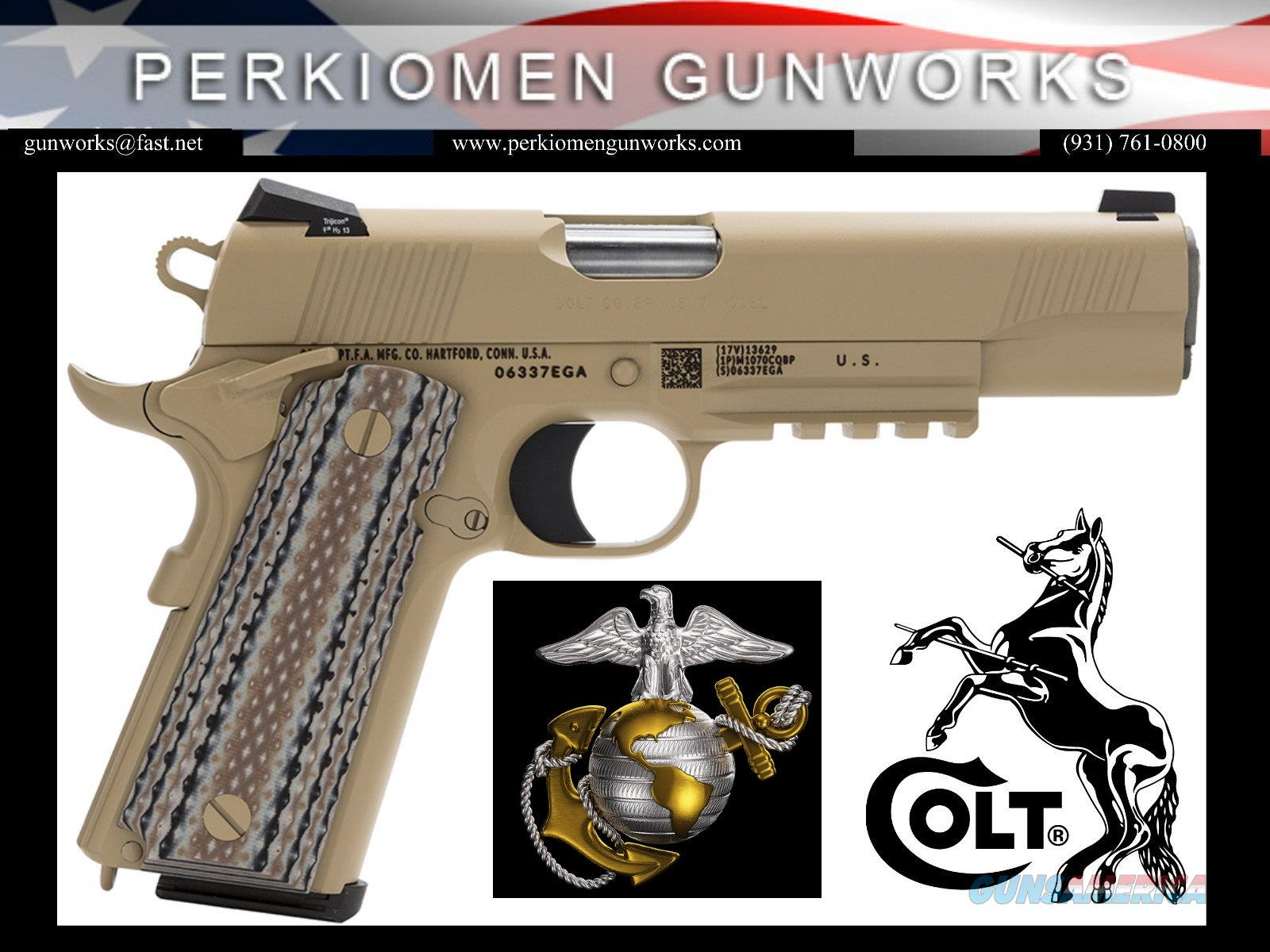 "Govt. Marine Model 1911, 45acp, 5"", O1070M45, Desert Sand, New in Box  Guns > Pistols > Colt Automatic Pistols (1911 & Var)"