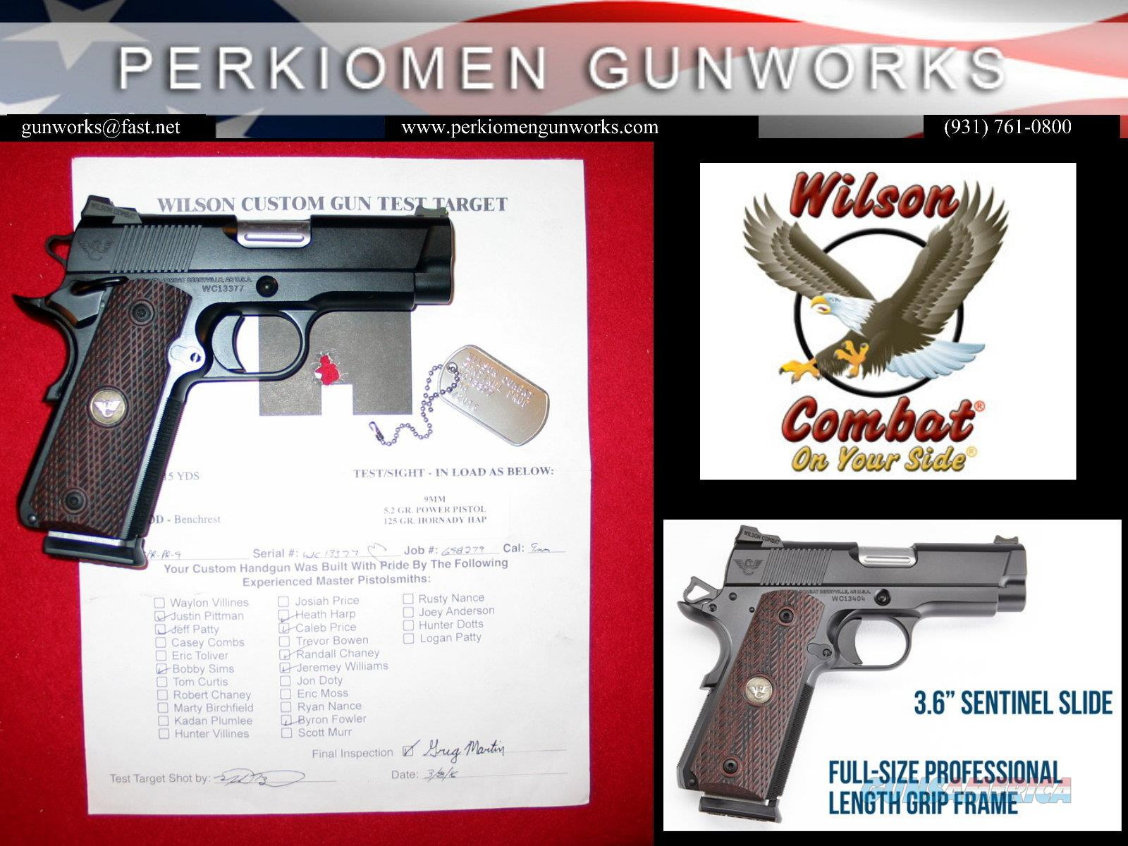 Sentinel Professional 9MM - New Release for 2016 - Super Nice, NIB  Guns > Pistols > Wilson Combat Pistols