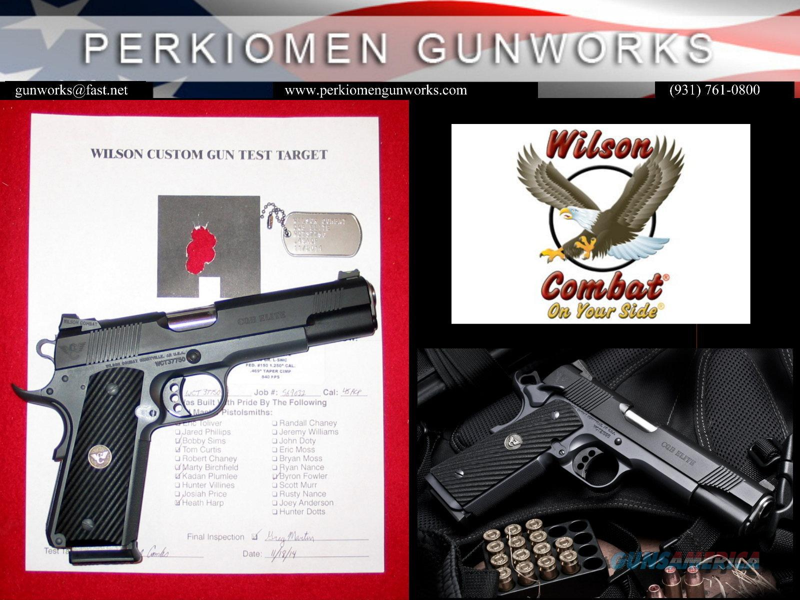"CQB Elite, 45acp, 5"", Loaded with Options - NEW  Guns > Pistols > Wilson Combat Pistols"