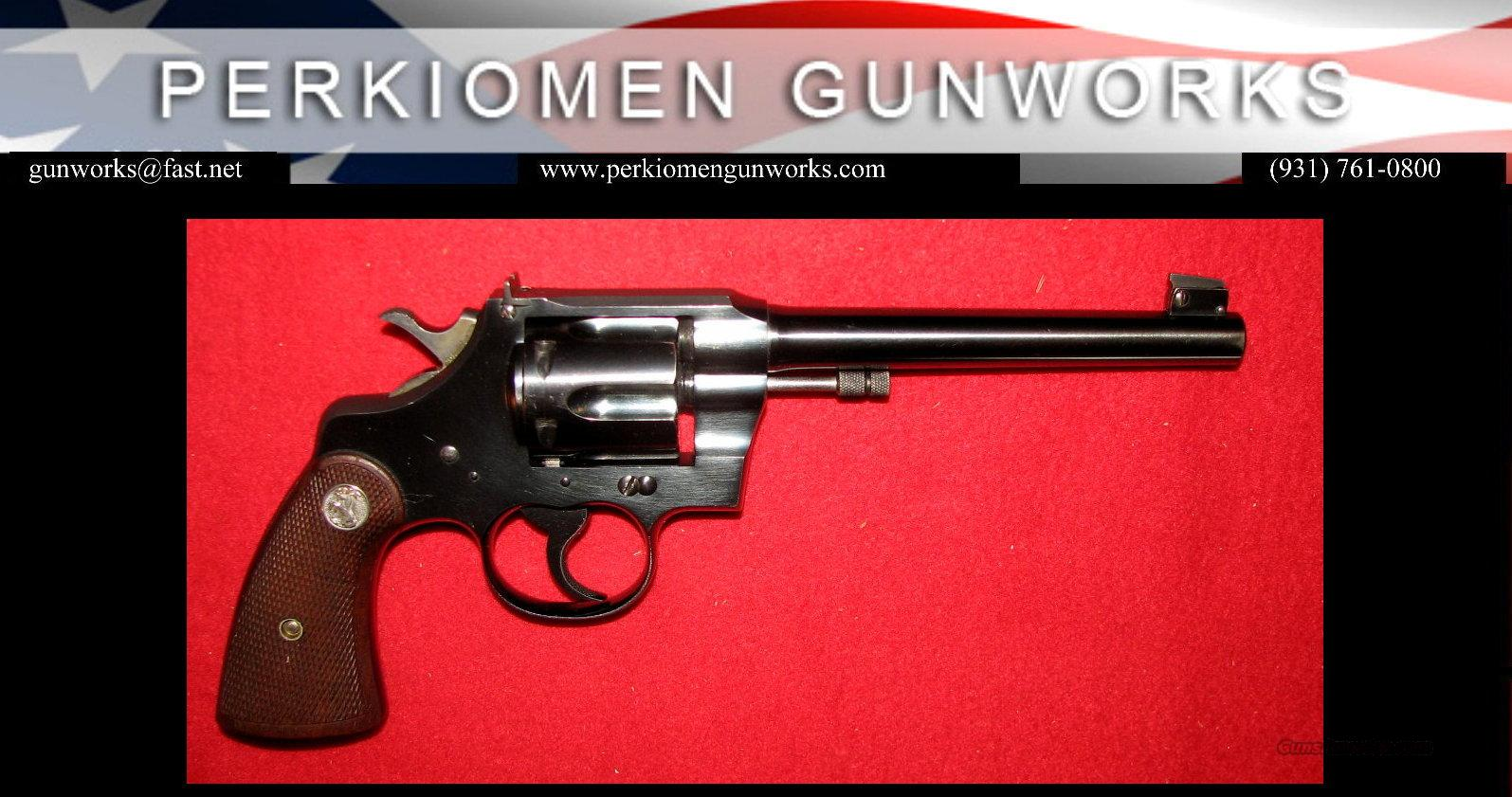 "Officer's Model Target 2nd Issue, .22LR, 6"" - Excellent++  Guns > Pistols > Colt Double Action Revolvers- Pre-1945"