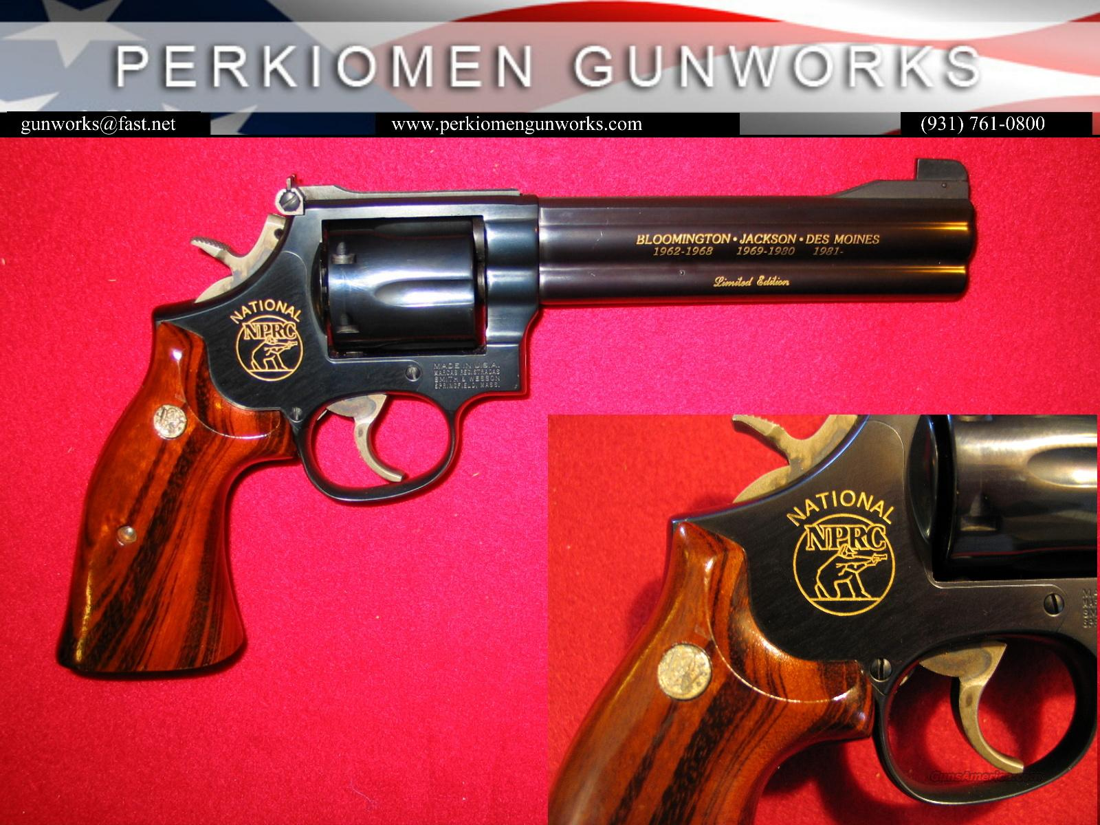 "586 NPRC Commemorative 6"" Blue - 1983 - Unfired  Guns > Pistols > Smith & Wesson Revolvers > Full Frame Revolver"