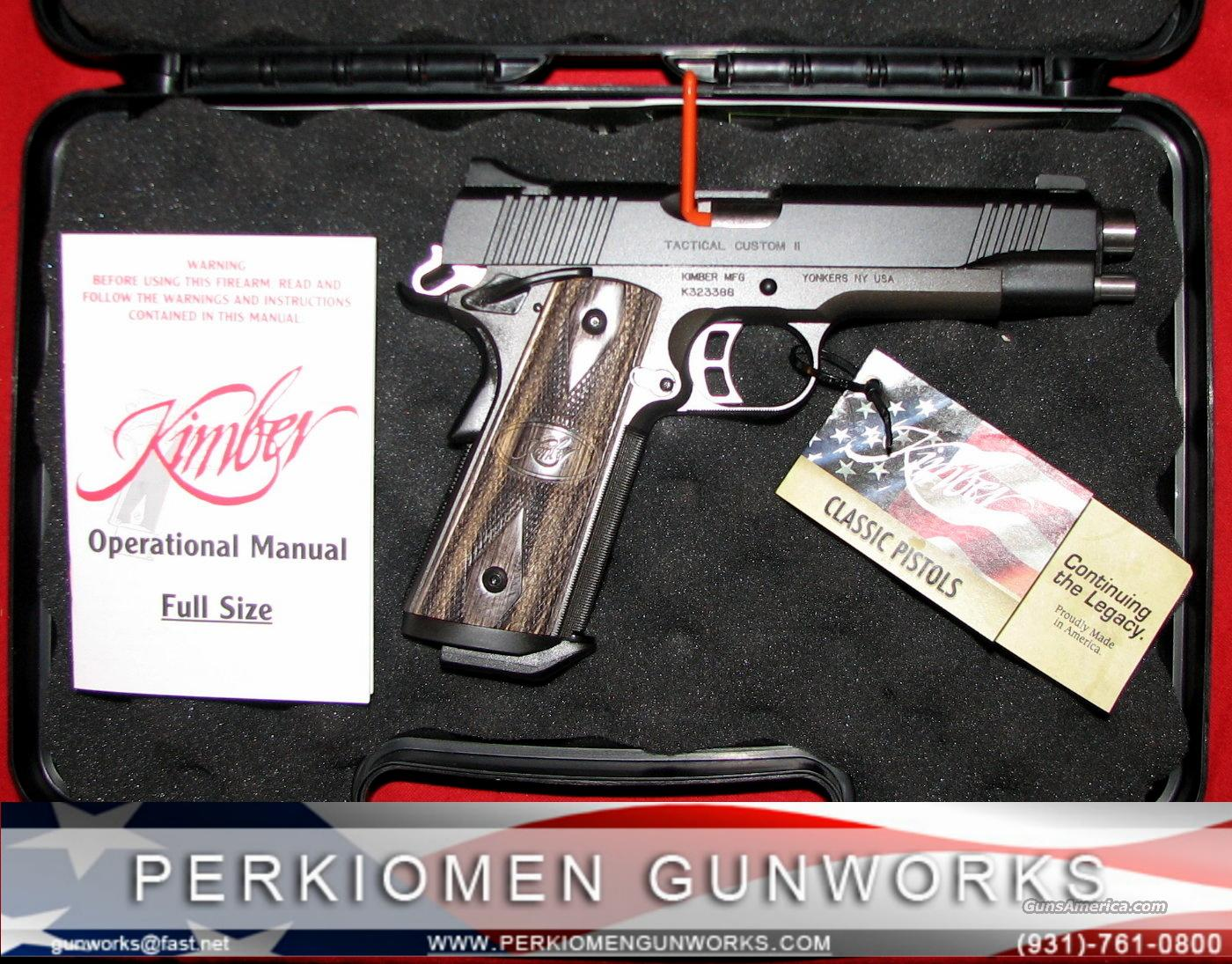 "Tactical Custom II, 5"", 45acp, NIB  Guns > Pistols > Kimber of America Pistols"