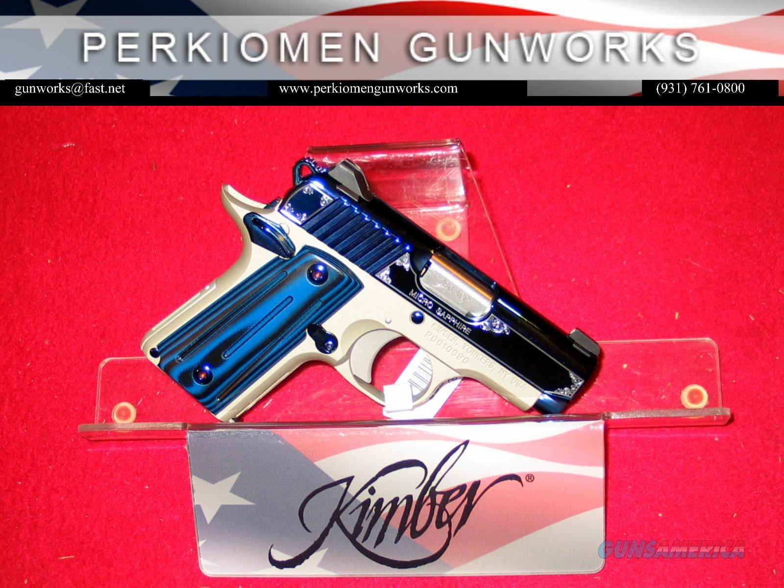 Micro SAPPHIRE, .380acp, New in Box w/Holster and Kimber pistol Rug  Guns > Pistols > Kimber of America Pistols