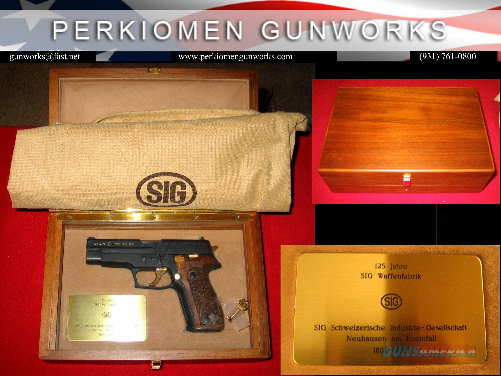 226 Jubilee 9MM Limited Edition 125th Anniversary w/case - unfired  Guns > Pistols > Sig - Sauer/Sigarms Pistols > P226