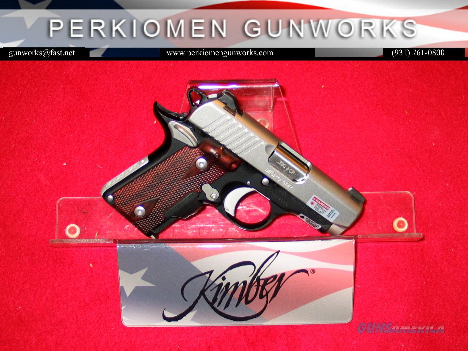 Micro CDP (LG) .380acp w/Laser Grips - New in Box  Guns > Pistols > Kimber of America Pistols > Micro
