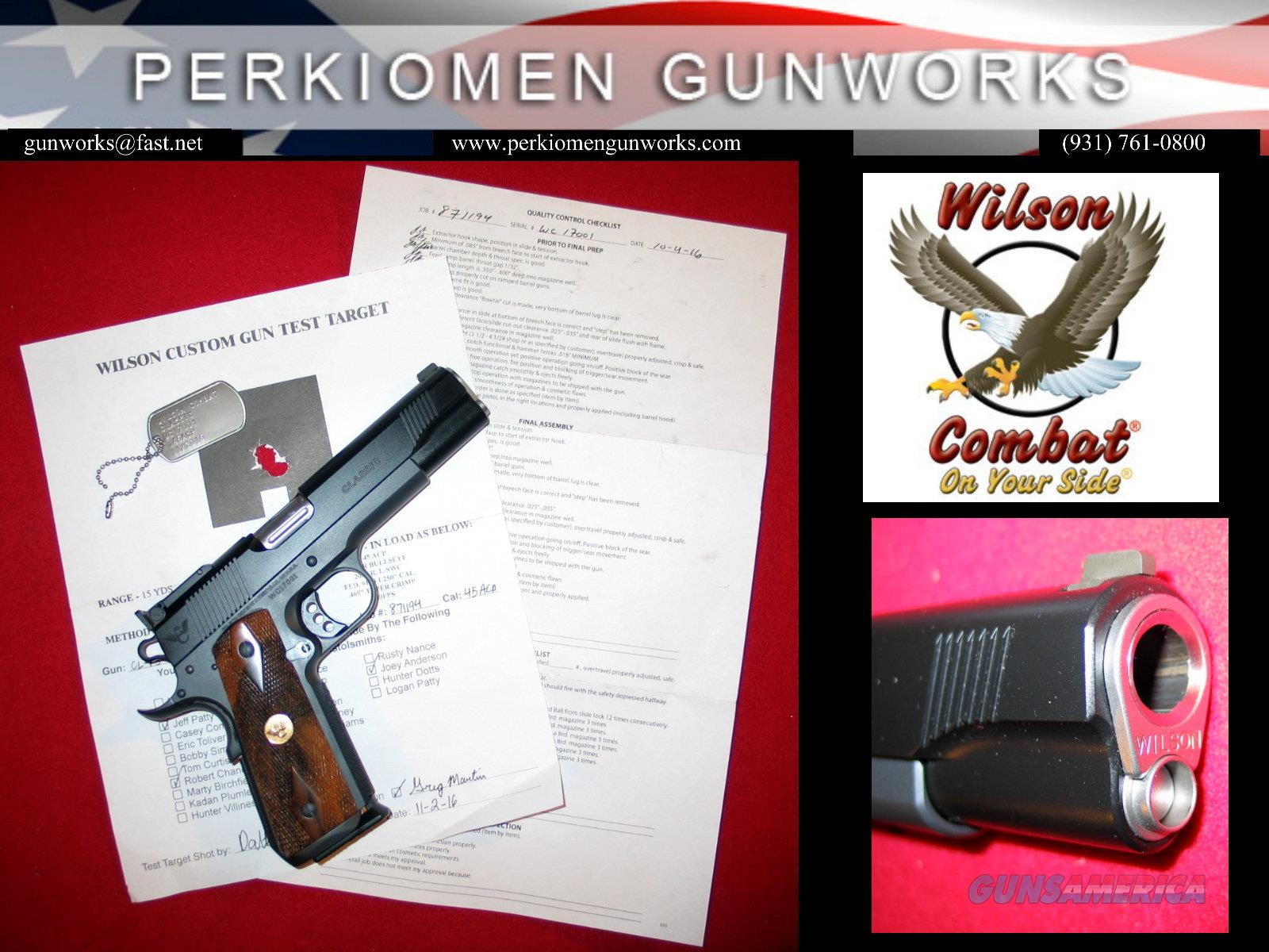Classic .45acp, full size 1911, Gray/Black, French Walnut plus many additional custom extras, NIB  Guns > Pistols > Wilson Combat Pistols