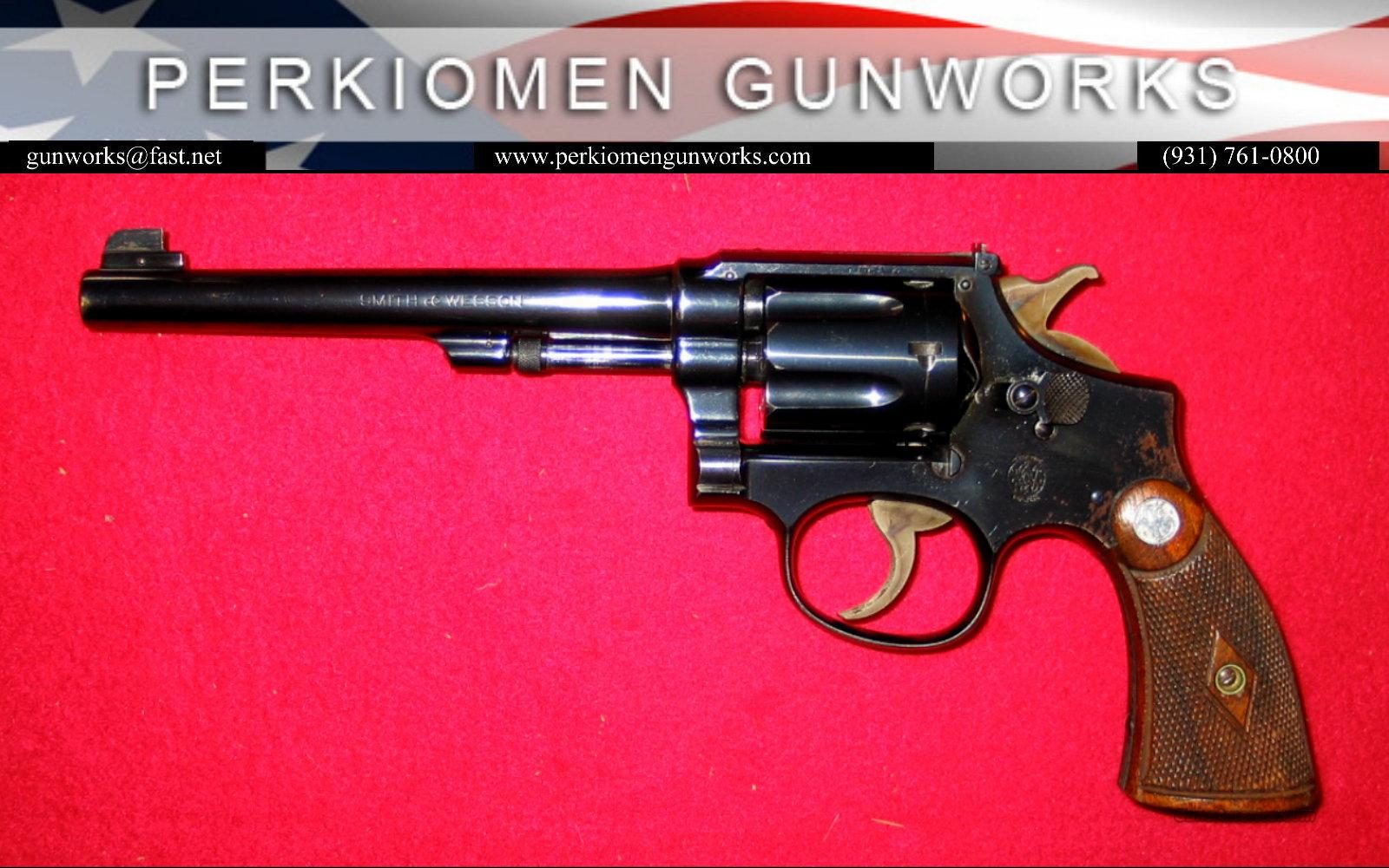 "K-22 Outdoorsman 1st Model, 6"", .22LR - NICE!  Guns > Pistols > Smith & Wesson Revolvers > Pre-1945"