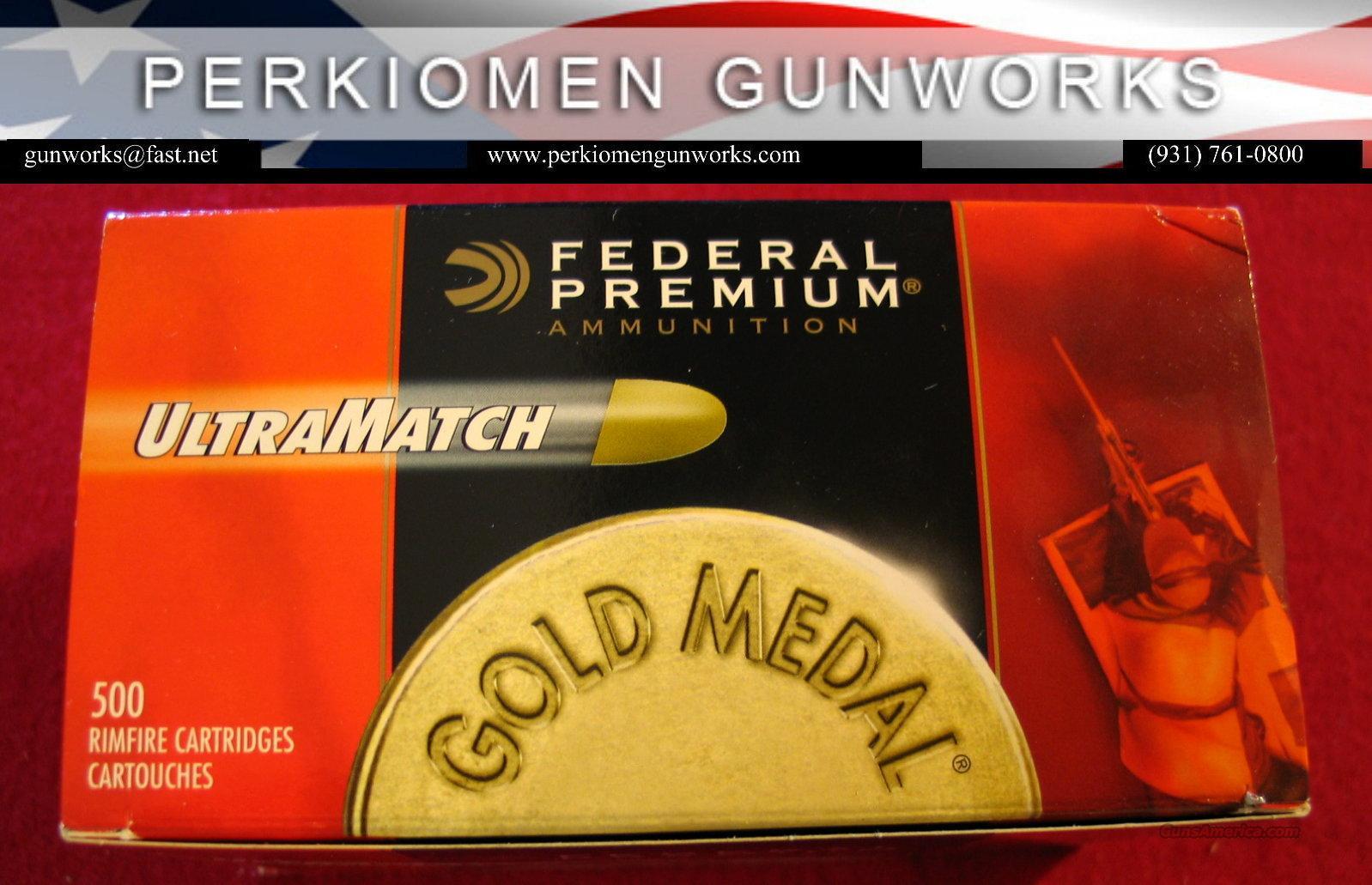 Federal UltraMatch .22lr, Brick of 500 - NEW  Non-Guns > Ammunition