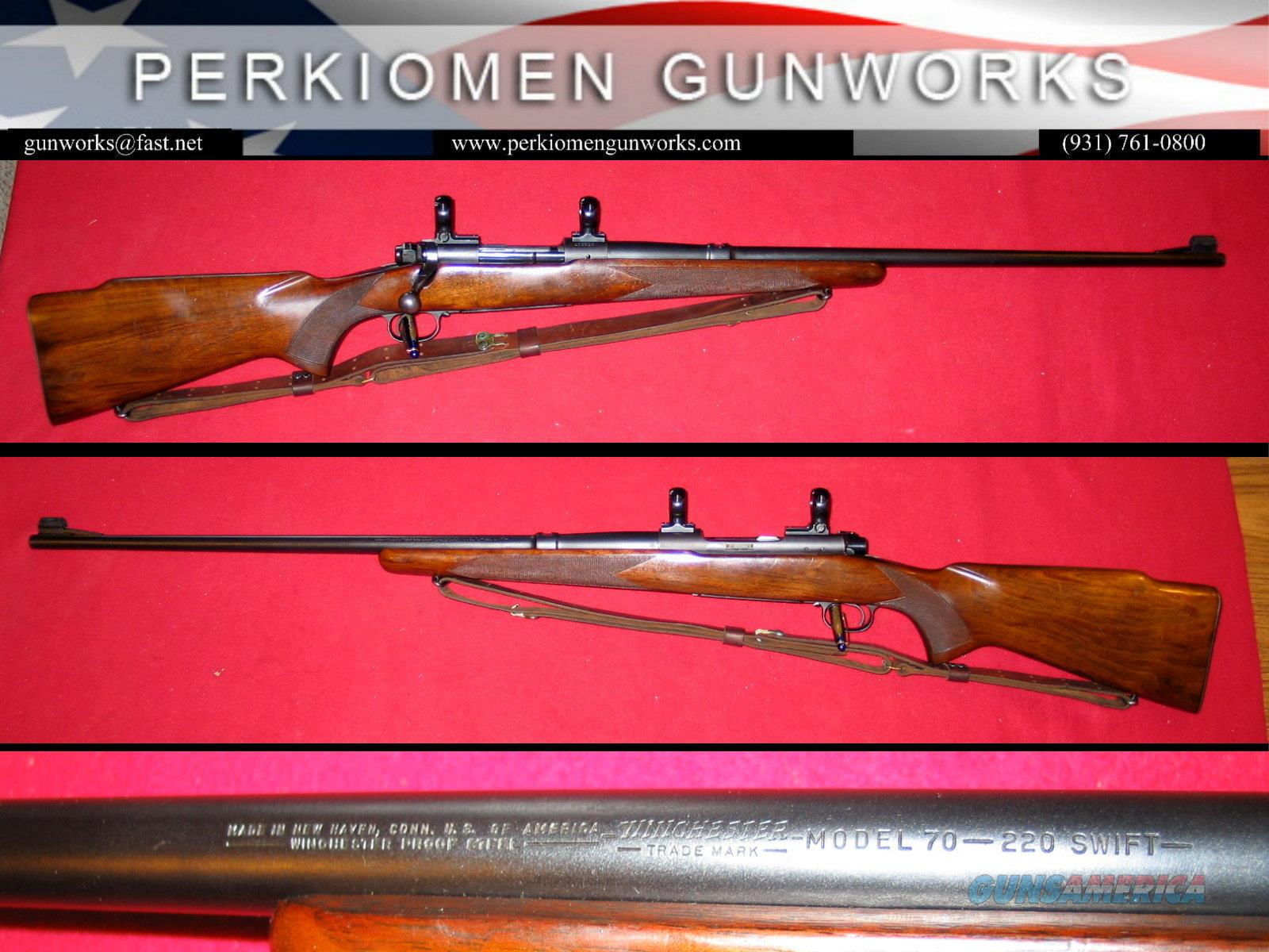 Winchester M-70 Pre-64 Std. Grade .220 Swift dates 1953  Guns > Rifles > Winchester Rifles - Modern Bolt/Auto/Single > Model 70 > Pre-64
