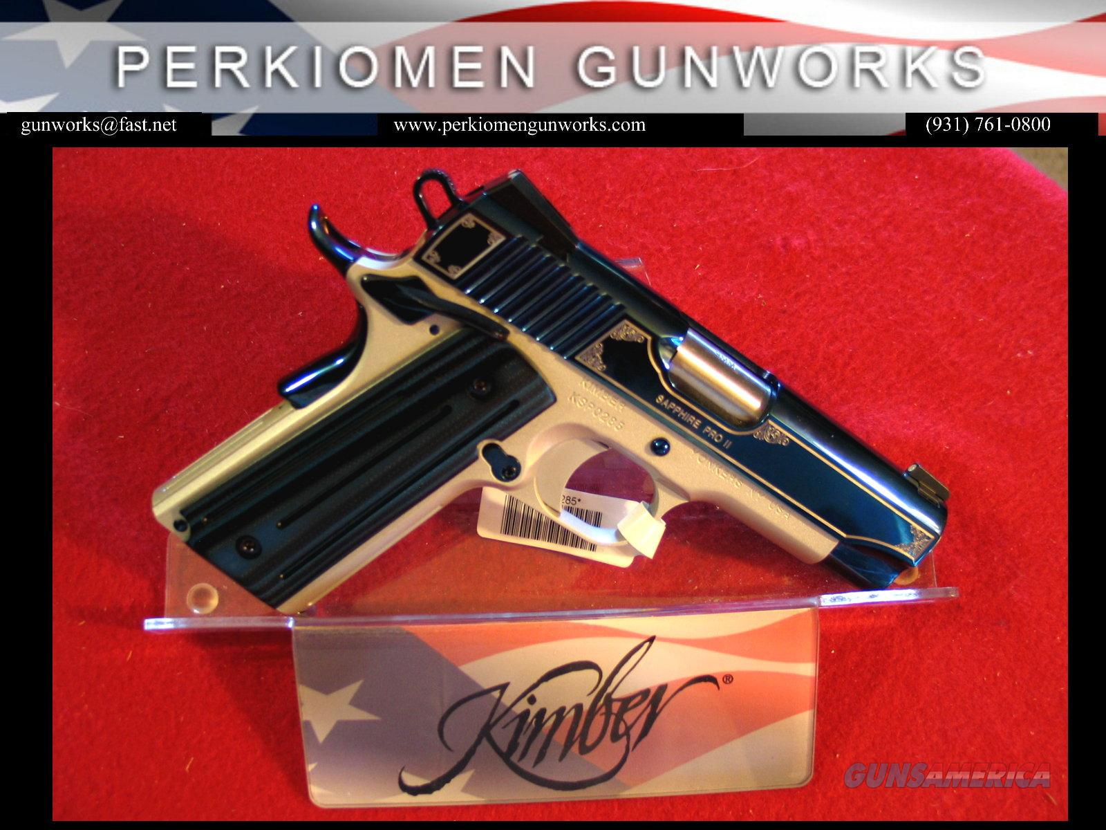 "Pro Sapphire 9MM, 4"", 2014 Summer Collection, New in Box  Guns > Pistols > Kimber of America Pistols"