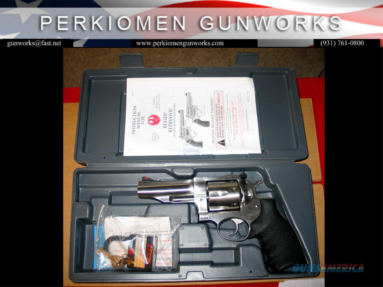 """Redhawk 45LC, 4"""" Stainless - NIB  Guns > Pistols > Ruger Double Action Revolver > Redhawk Type"""
