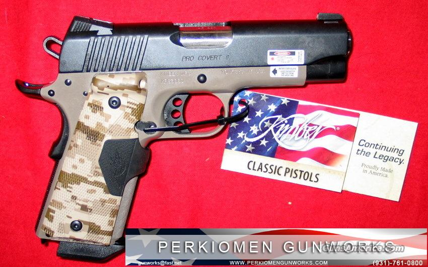 "Pro Covert, 45acp, 4"" w/Laser Grips - New in Box.  Guns > Pistols > Kimber of America Pistols"