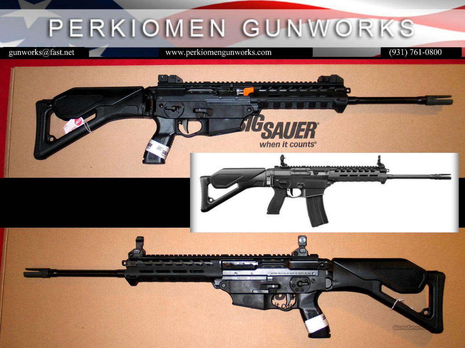 "R556xi 5.56 Nato 16"" AR w/flip-up sights & Folding Stock - NEW  Guns > Rifles > Sig - Sauer/Sigarms Rifles"