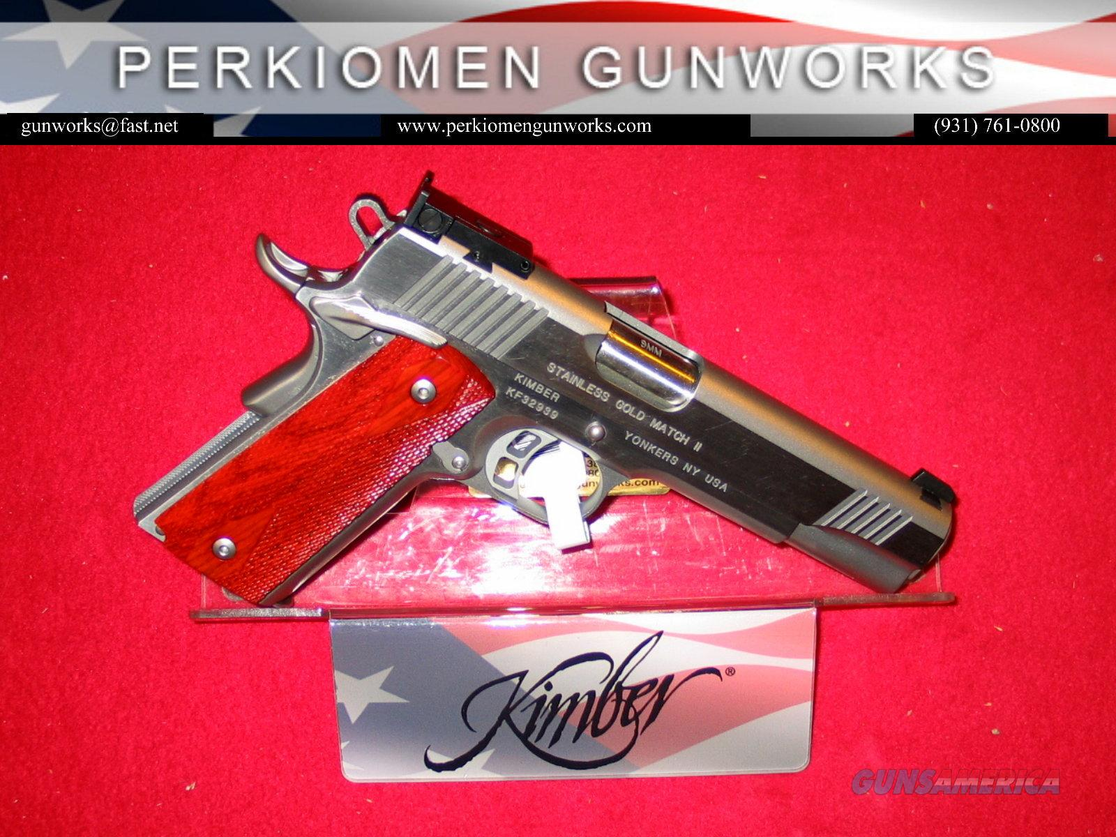 "Gold Match Stainless, 9MM, 5"", New in Box  Guns > Pistols > Kimber of America Pistols"