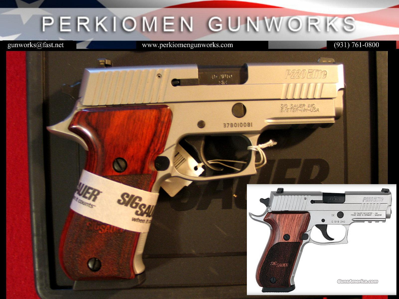 P220 Carry Elite Stainless, 45acp, New in Box  Guns > Pistols > Sig - Sauer/Sigarms Pistols > P220