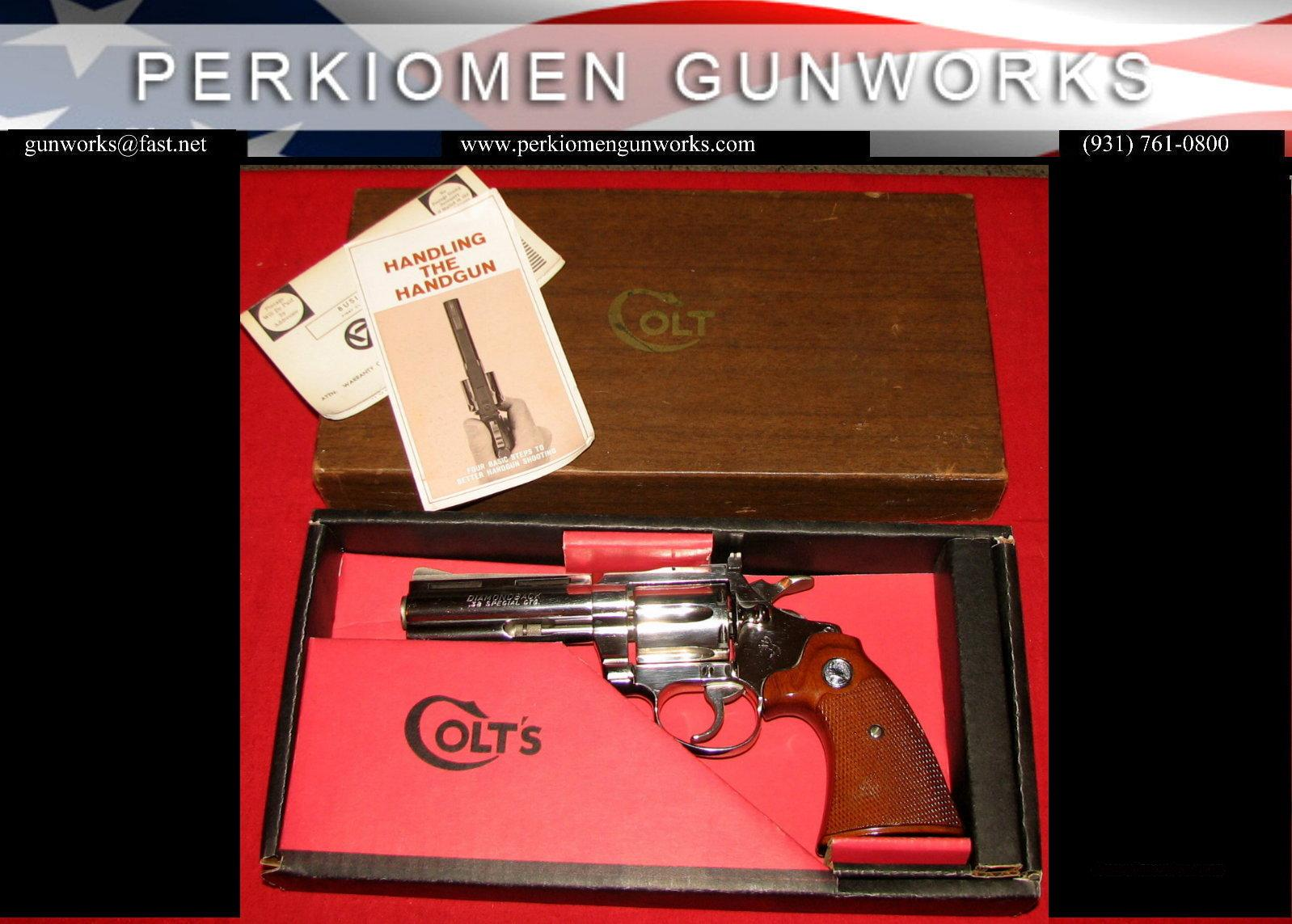 Diamondback 38 Special 4 Inch Nickel - Like New in Box  Guns > Pistols > Colt Double Action Revolvers- Modern