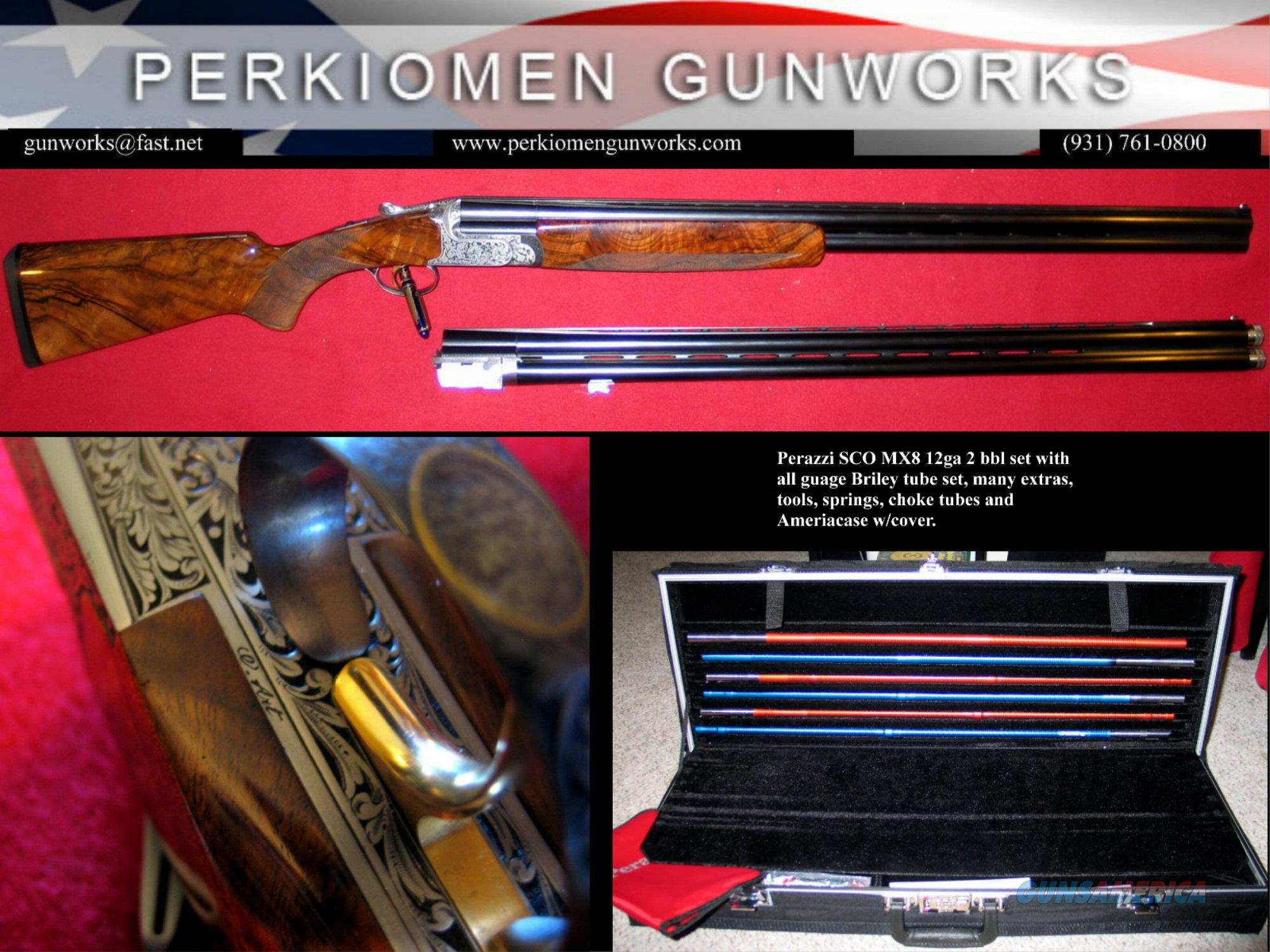 SCO MX8 2-Barrel set w/Briley sub-gauge tube set - cased - LOOK!  Guns > Shotguns > Perazzi Shotguns
