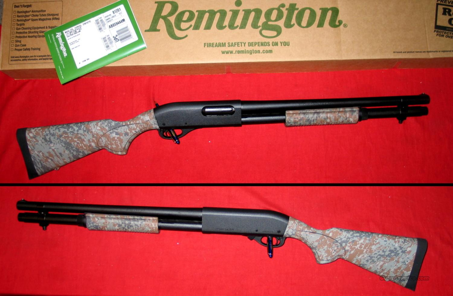 "870 Camo Syn 12ga 18.5"" w/mag extension  Guns > Shotguns > Remington Shotguns  > Pump > Tactical"