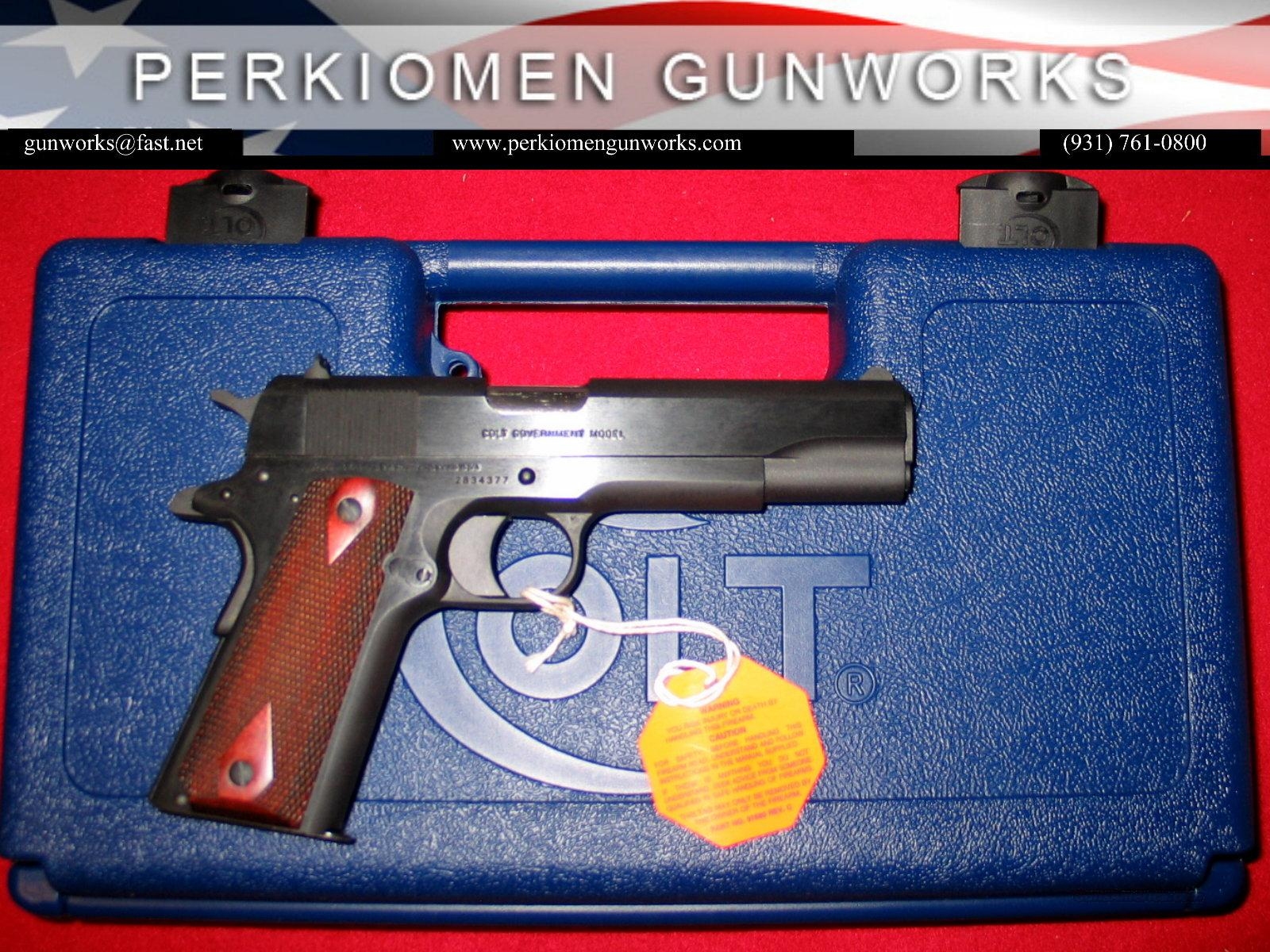 "Govt. Model .38 Super, 5"", Blue, New in Box  Guns > Pistols > Colt Automatic Pistols (1911 & Var)"