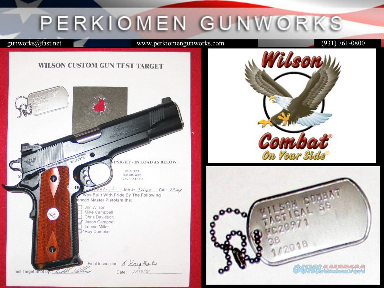 Tactical Supergrade .38 SUPER - NEW  Guns > Pistols > Wilson Combat Pistols