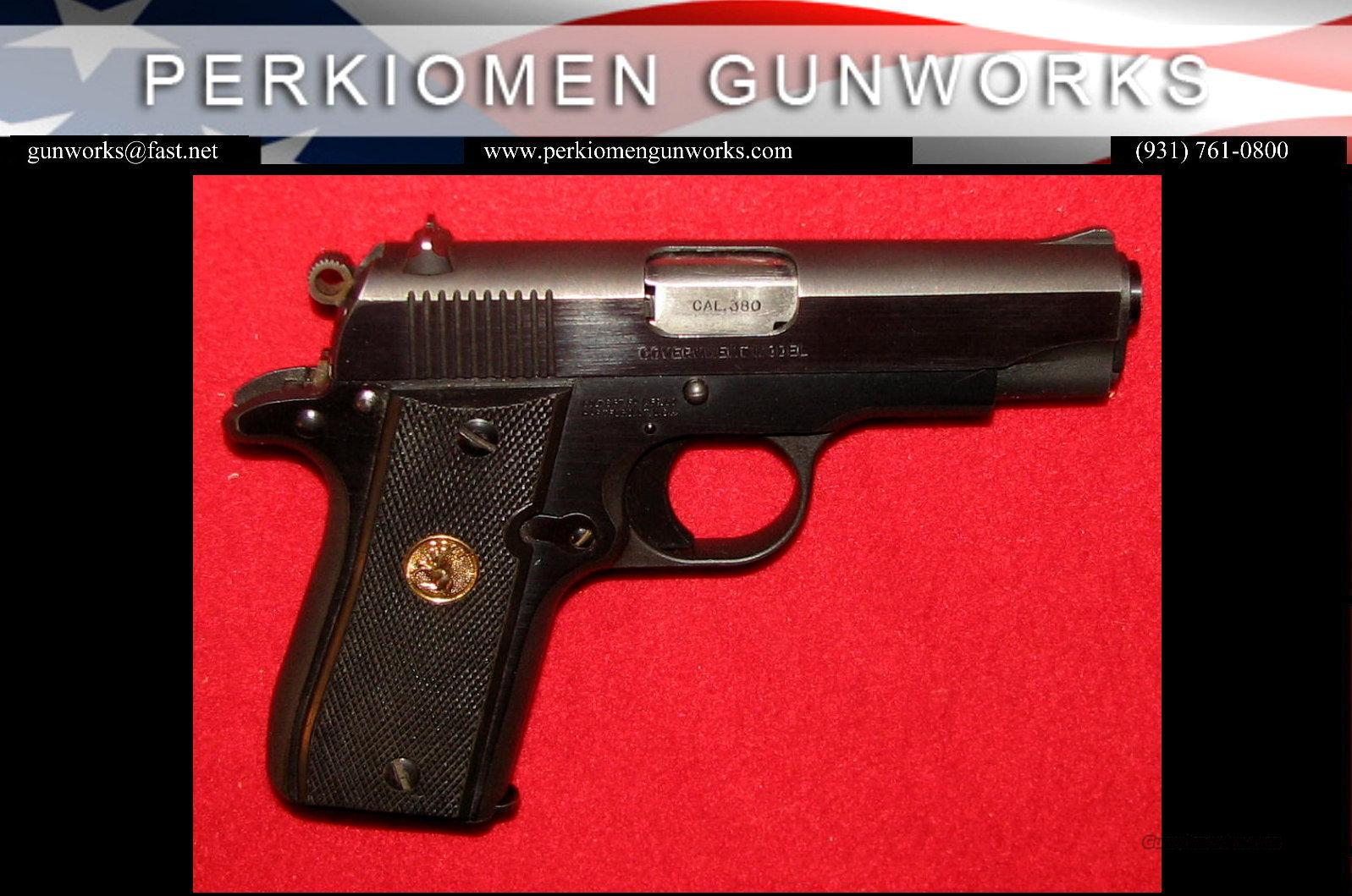 Government 380, Blue finish, Used-Excellent  Guns > Pistols > Colt Automatic Pistols (.25, .32, & .380 cal)