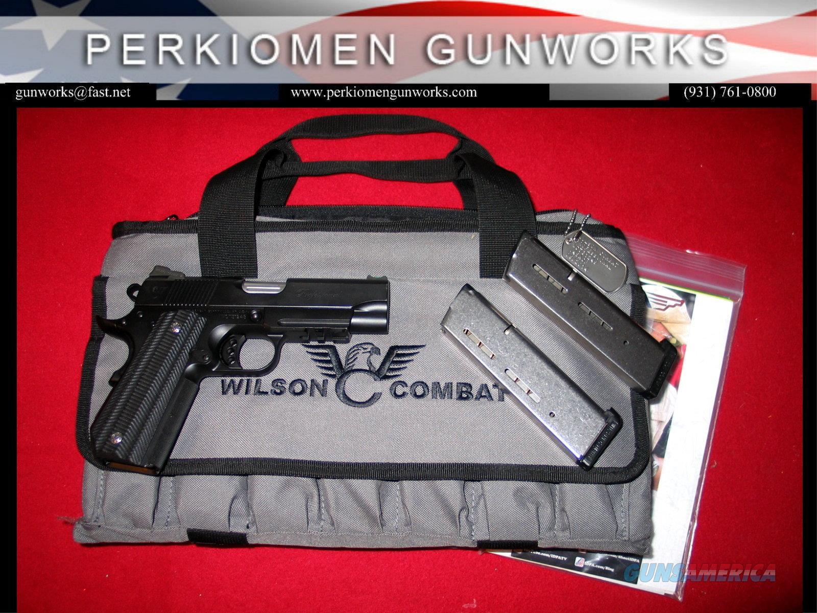 "Professional .45acp, 4"" w/Custom Options / used, like new.  Guns > Pistols > Wilson Combat Pistols"