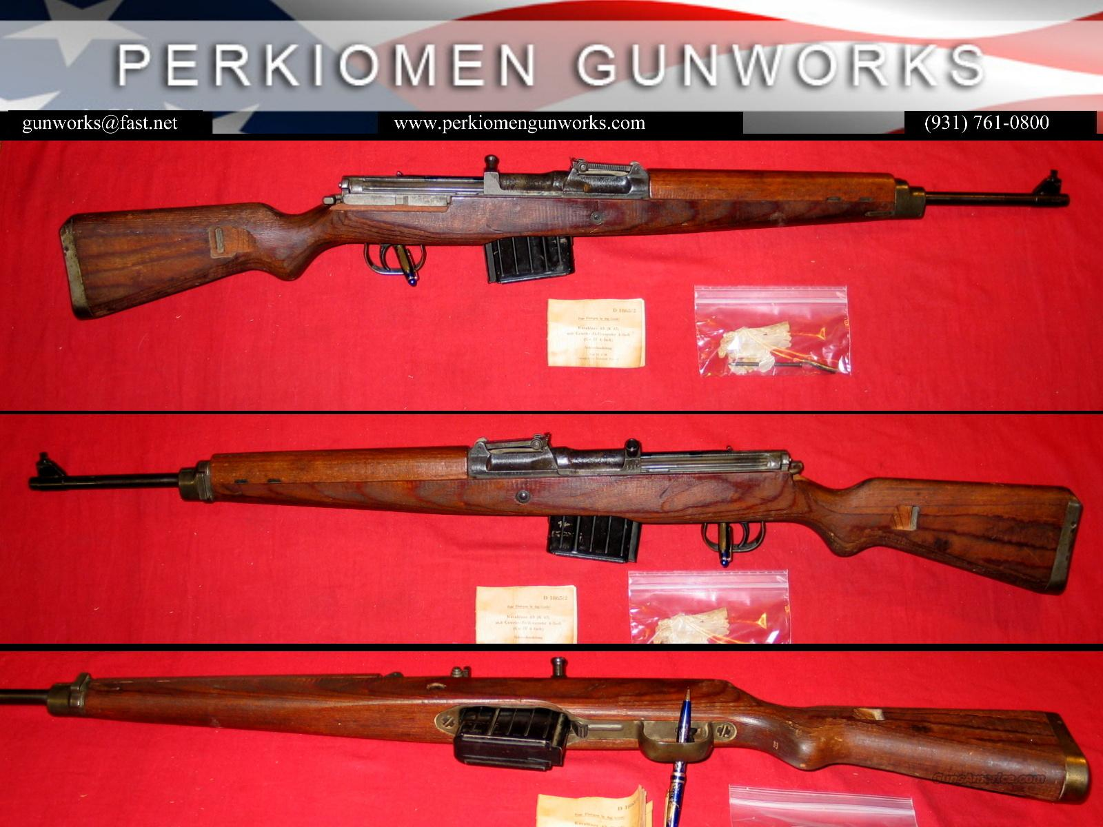 German K43, dates 1945 with MANUAL!!  Guns > Rifles > Military Misc. Rifles Non-US > Other
