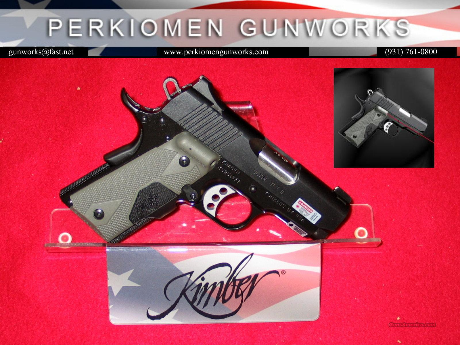 "Ultra TLE (LG), 45acp, 3"", w/Laser Grips, New in Box  Guns > Pistols > Kimber of America Pistols"