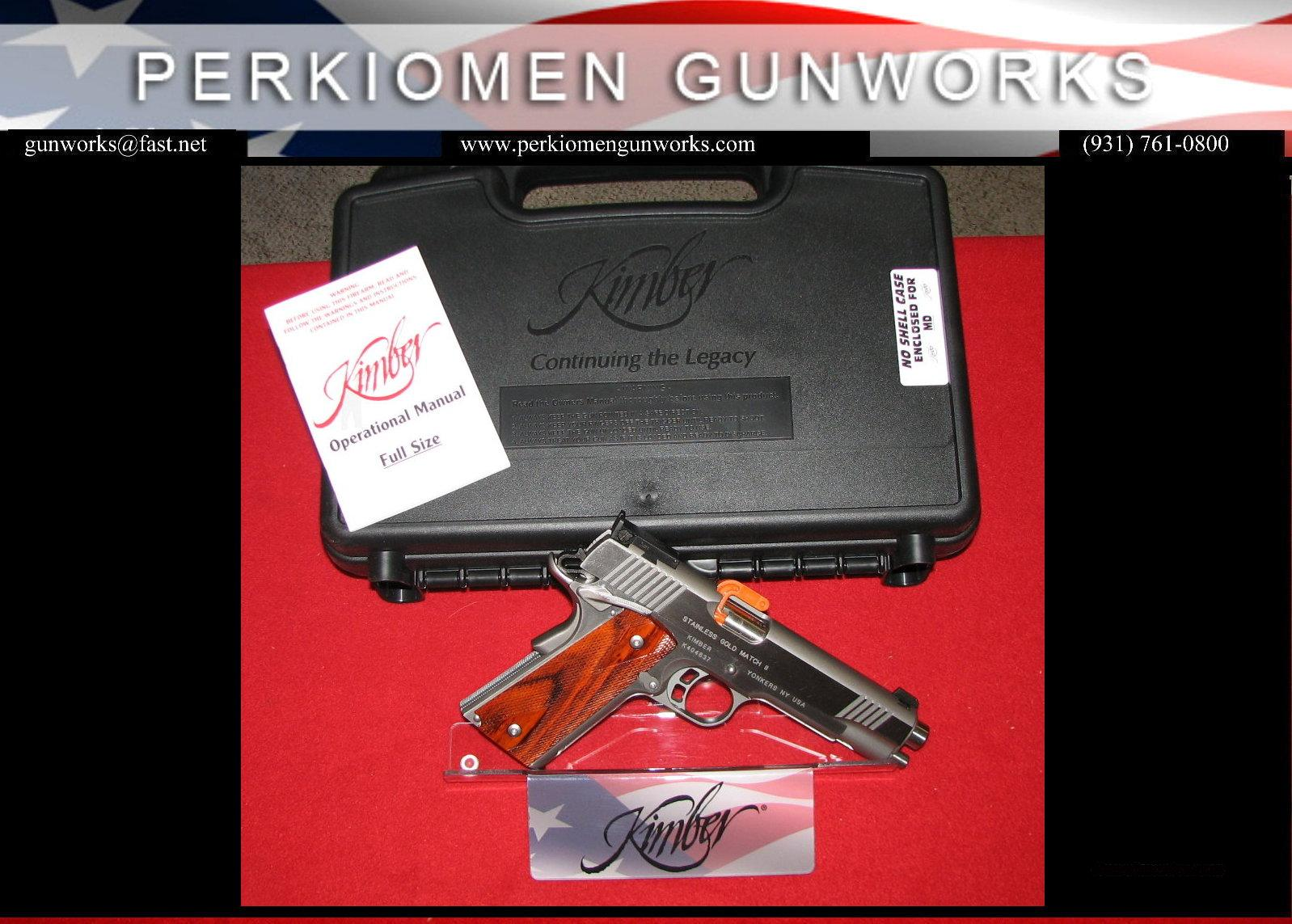 "Stainless Gold Match, 45acp, 5"" - NIB  Guns > Pistols > Kimber of America Pistols"
