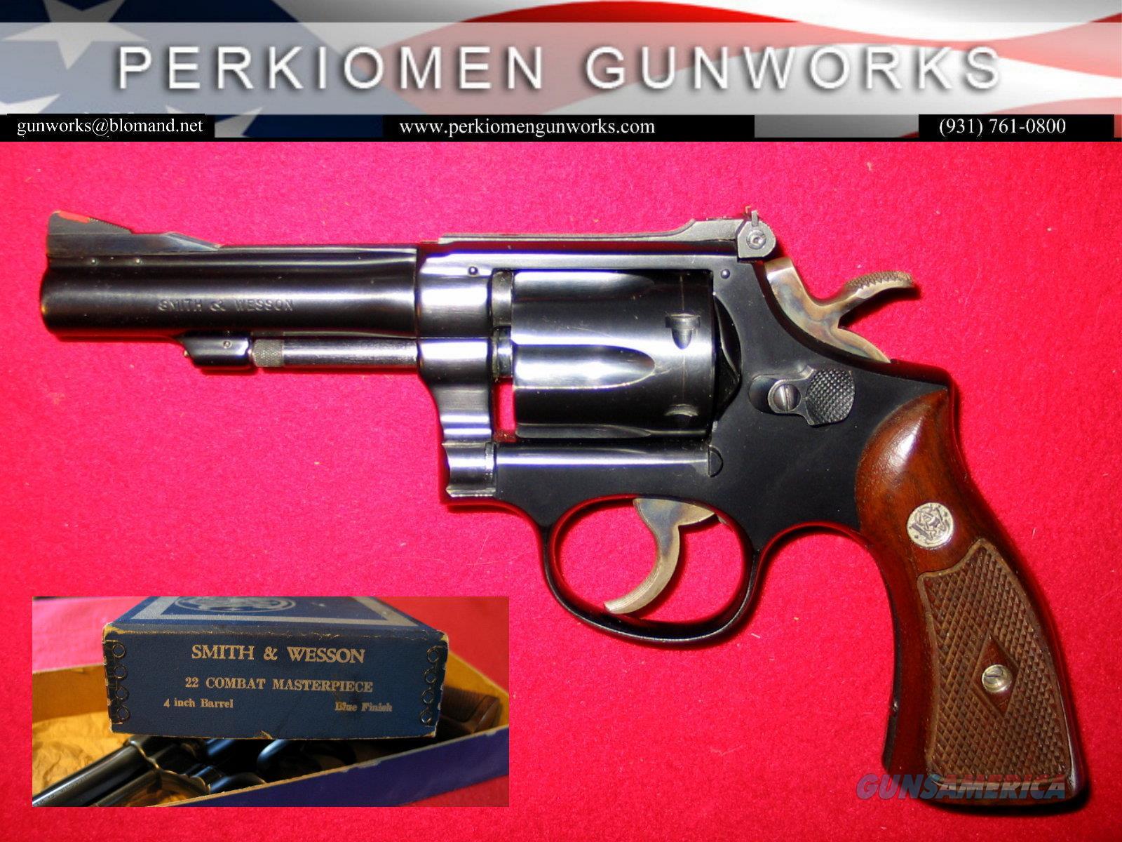 .22 Combat Masterpiece (Pre-18)  Guns > Pistols > Smith & Wesson Revolvers > Med. Frame ( K/L )