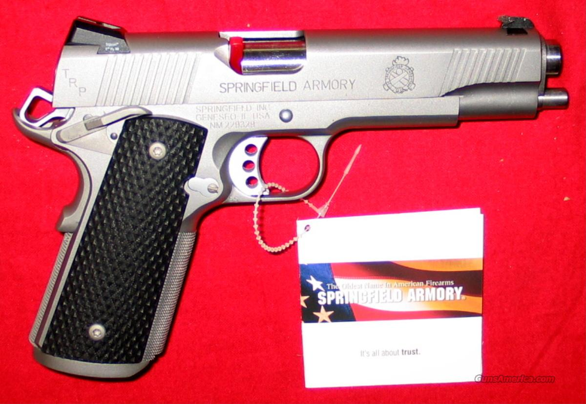 "TRP Stainless Trophy Tactical Service .45 ACP, 5"" w/Night Sights – LOADED   Guns > Pistols > Springfield Armory Pistols > 1911 Type"
