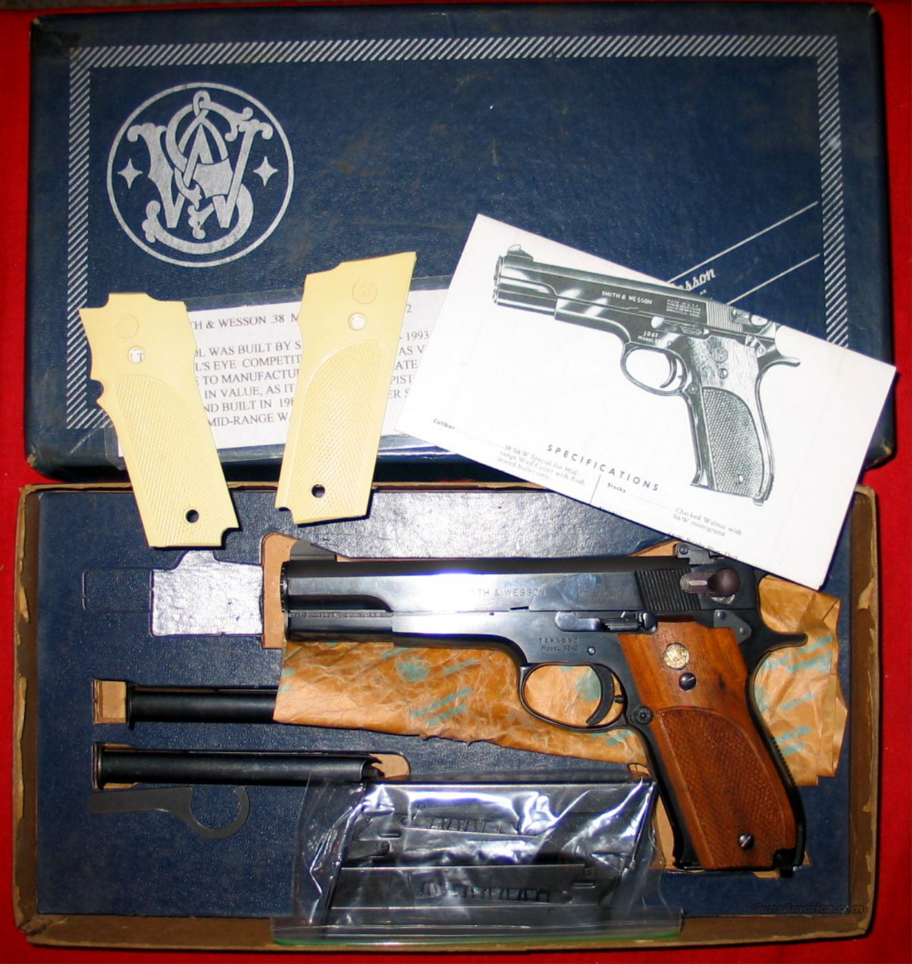 "52-2 .38 Mid-Range Wad Cutter, 5"" Target w/5 mags  Guns > Pistols > Smith & Wesson Pistols - Autos > Steel Frame"