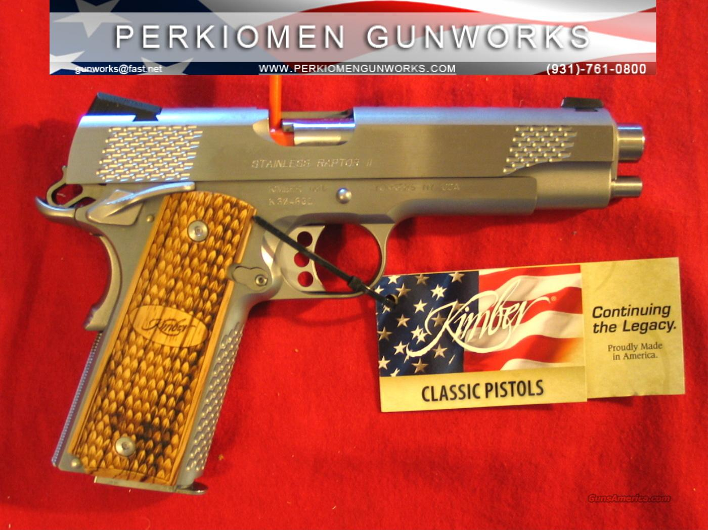 Stainless Raptor 45acp, 5-inch - New in Box.  Guns > Pistols > Kimber of America Pistols