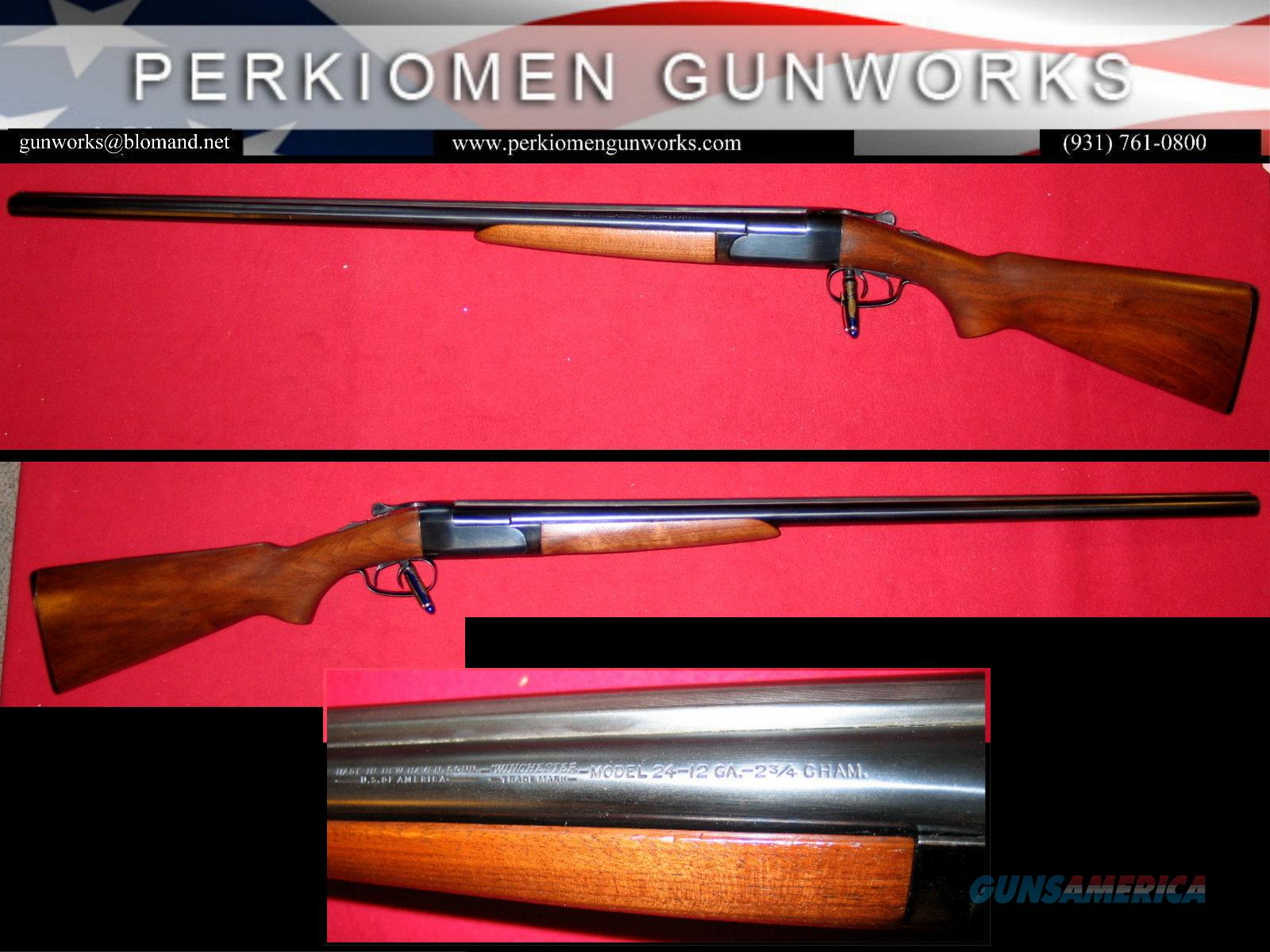 """M-24 SxS 12ga, 30"""" M/F  Guns > Shotguns > Winchester Shotguns - Modern > SxS"""