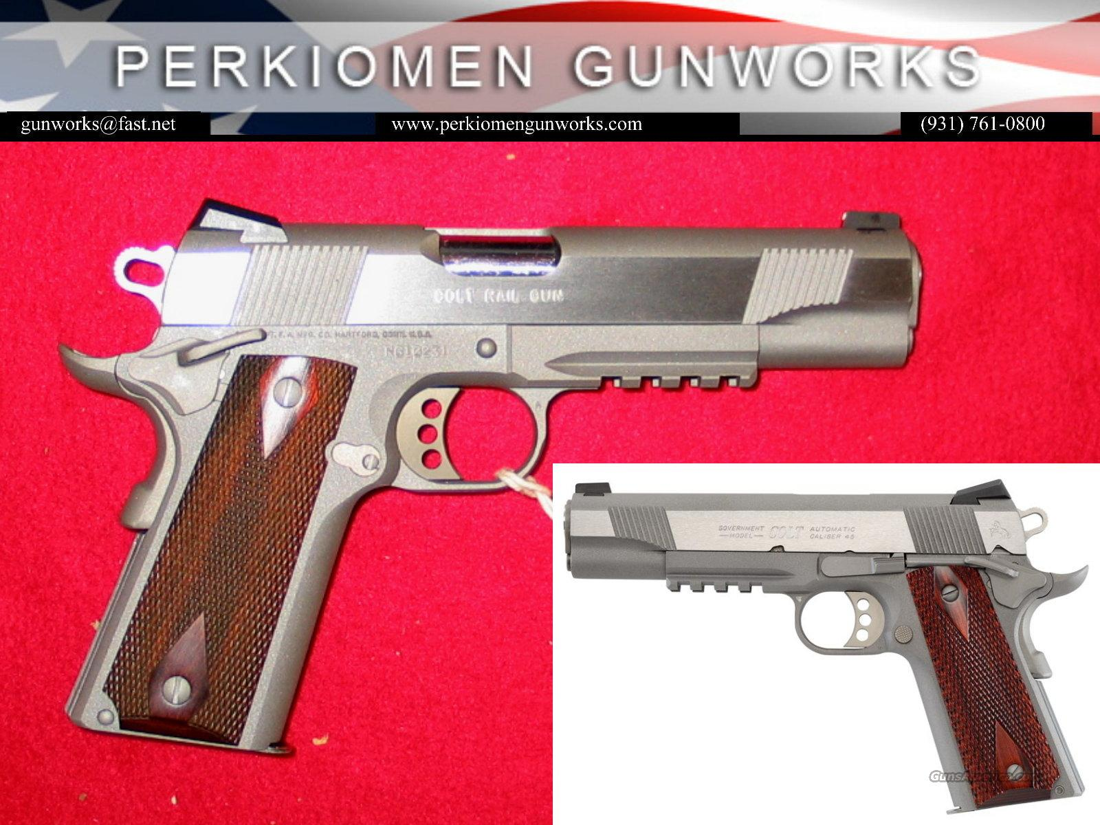 "Government Model SS Rail Gun, 45acp, 5"", New in Box  Guns > Pistols > Colt Automatic Pistols (1911 & Var)"