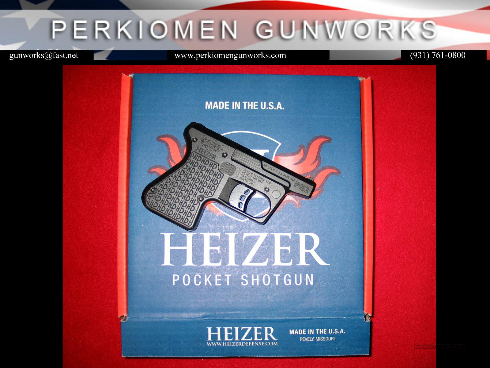 Heizer Defense PS1 Pocket Shotgun .410ga/.45LC, New in Box  Guns > Shotguns > H Misc Shotguns