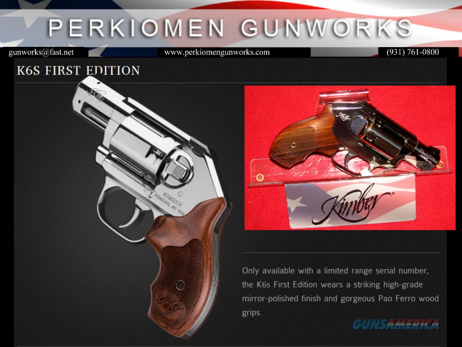 K6S First Edition .357mag - New in box w/Display case  Guns > Pistols > Kimber of America Pistols